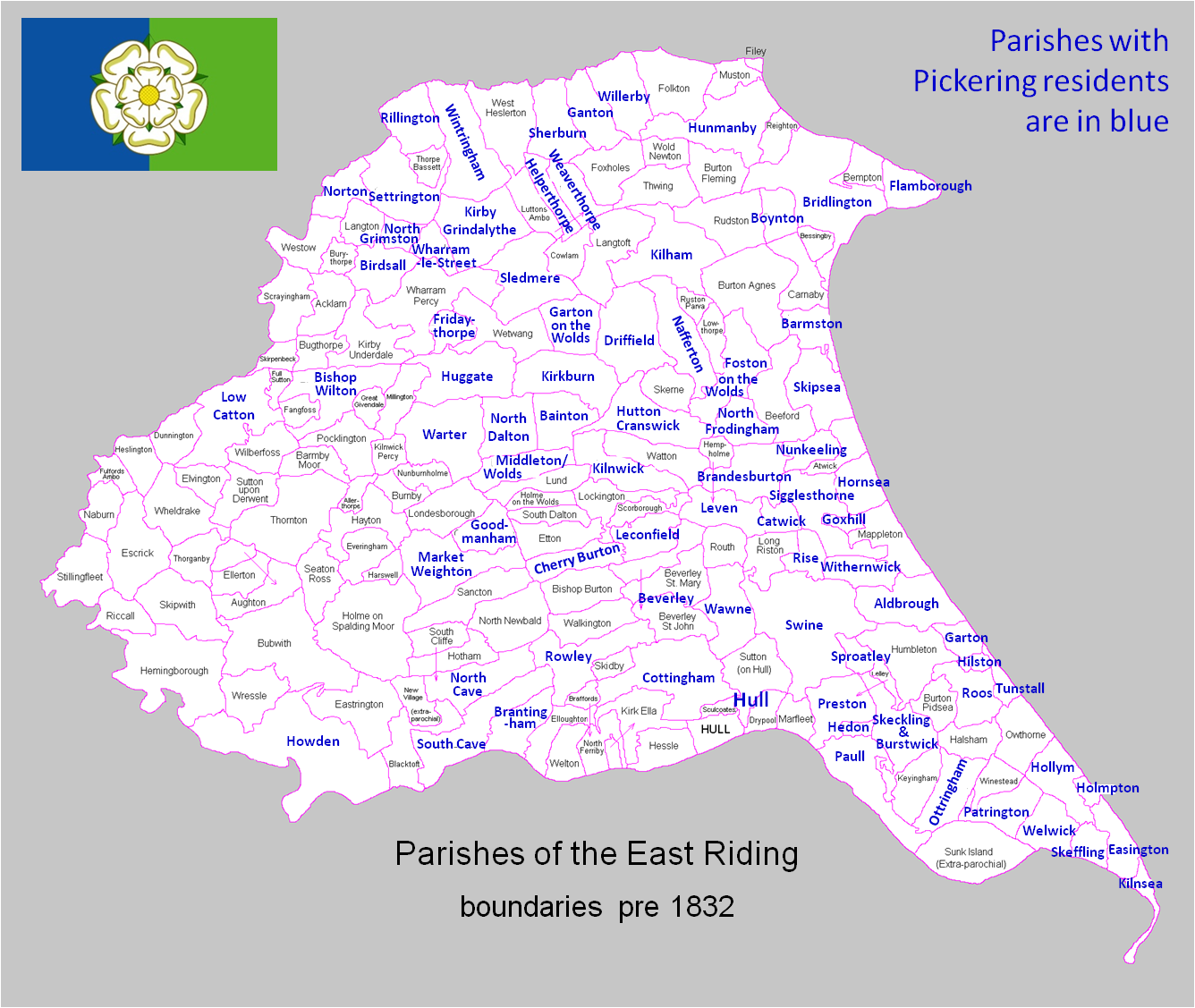 adapted from The Parishes of the East Riding © Colin Hinson