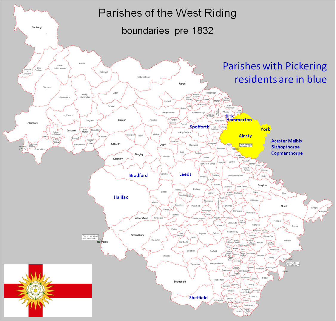 adapted from The Parishes of the West Riding © Colin Hinson