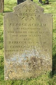George Acklam Rebecca Puckering