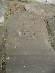 William Pickering and Ann Batty gravestone, Prestone churchyard