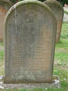 William Puckering family gravestone, St Hilda's Church, Sherburn Photo: Richard Spence