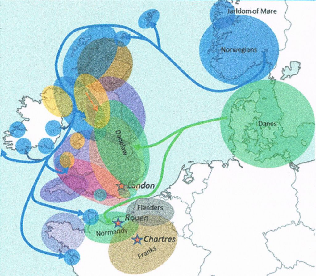 Viking migrations in the 9th century