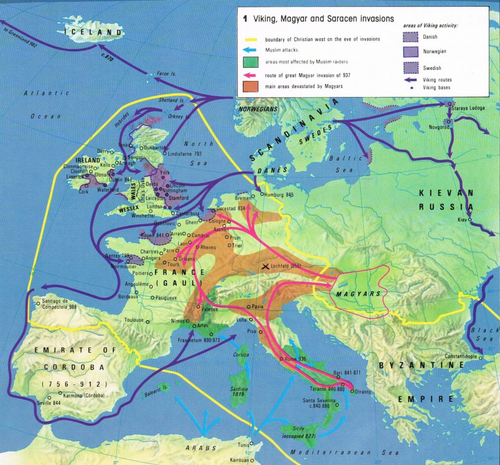 Viking invasions, 9th century Times Concise Altas of World History