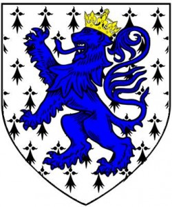 ermine lion rampant azure crowned or