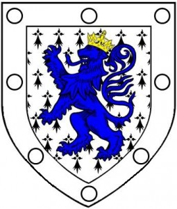 ermine lion rampant azure crowned or 8 plates
