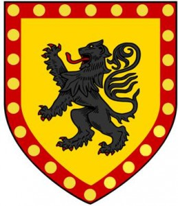 or lion rampant sable bordure gules