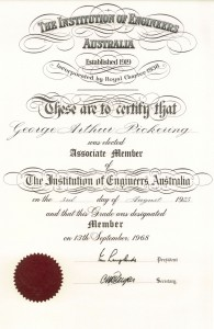 Institution of Engineers, Australia, 1925 and 1968