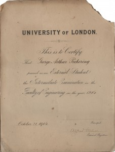 University of London Faculty of Engineering, 1914