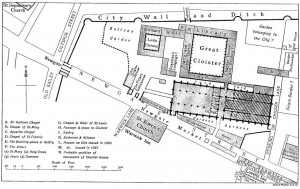 Grey Freers within Newgate, early 16th century