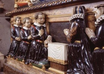 Weepers on the tomb of Sir John Puckering, Westminster Abbey.