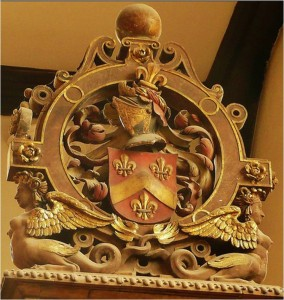 Sir William's arms (note the chevron or)