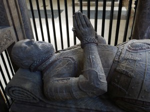 Sir William's effigy