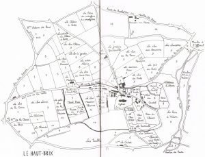Map of Brix showing walled centre, 1812