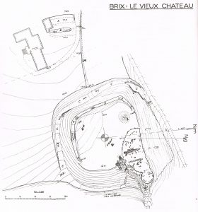 Annotated plan of old castle