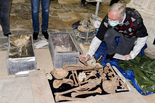 DNA testing of the bodies contained in the alleged graves of Richard I and Richard IIFécamp 2016