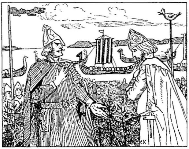 Meeting of Olaf II of Norway and Ragnvald Ulfsson of Sweden